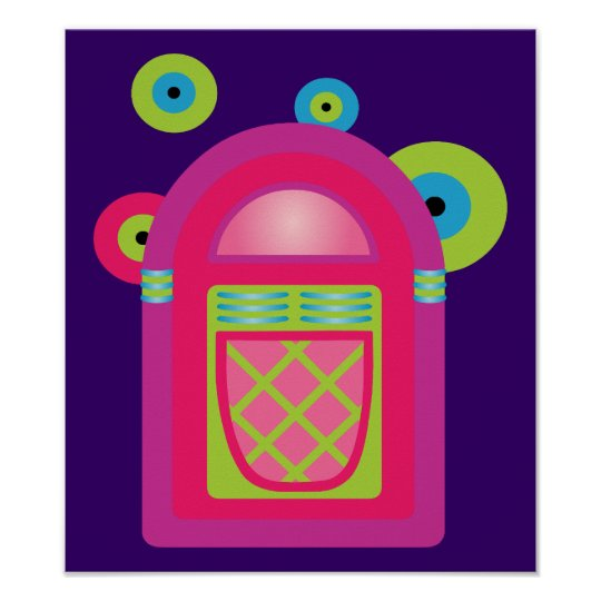 Neon Jukebox Poster