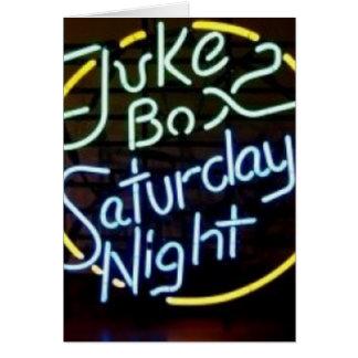 Neon Jukebox Sign Greeting Card