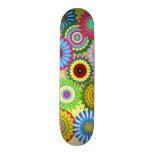 neon kaleidoscope rainbow colour retro skateboard