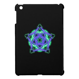 neon knotwork iPad mini case