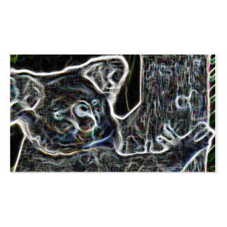 Neon Koala Pack Of Standard Business Cards