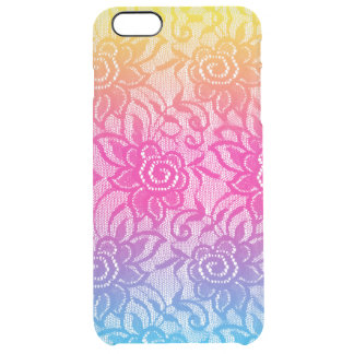 Neon Lace Clear iPhone 6 Plus Case
