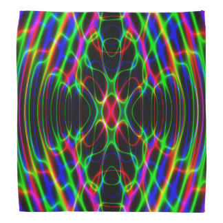Neon Laser Light Psychedelic Abstract Kerchiefs
