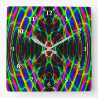 Neon Laser Light Psychedelic Abstract Wallclock