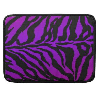 Neon Lavender Zebra Skins MacBook Pro Sleeve