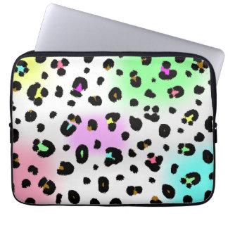 Neon Leopard Electronics Bag
