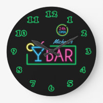 Neon Light Private Home Bar Clock