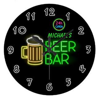 Neon Light Private Home Personalized Bar Clock