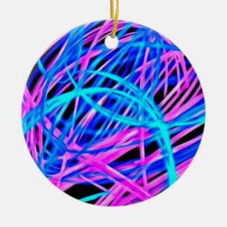 Neon light show pink blue ornaments