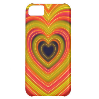 Neon Lighted Girly Heart Design iPhone 5C Case