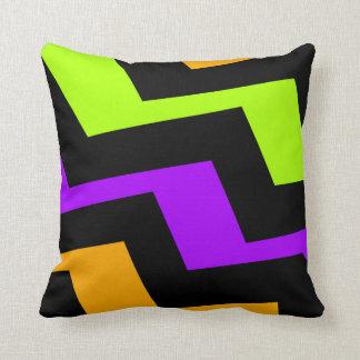 Neon Lightning Pillow