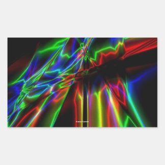 Neon Lightning Rectangular Sticker