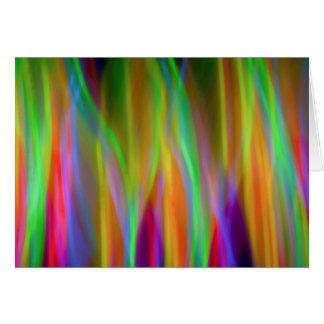 Neon Lights blank card