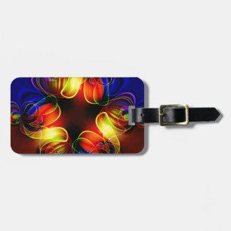 Neon Lights Fractal Bag Tag