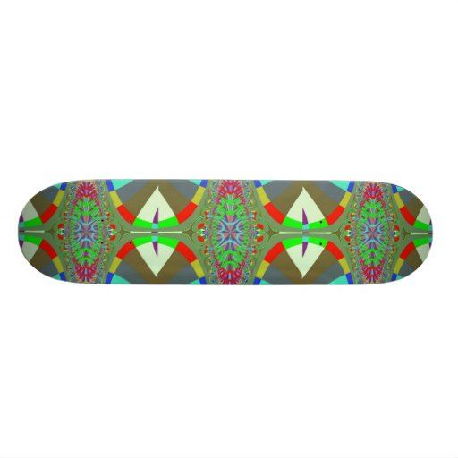 Neon Lights Ladder Fractal Custom Skate Board