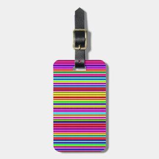 Neon Lights Stripes Luggage Tag
