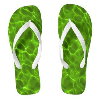 Neon Lime Green Swimming Pool Flip Flops