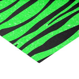 Neon Lime Green Zebra Animal Print Tissue Paper