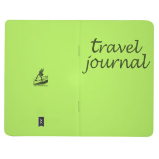 Neon Lime Travel Pocket Journal Notebook