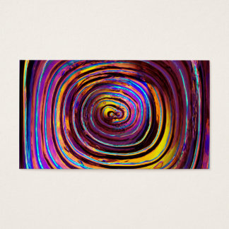 Neon Lit Molded Glass Business Card
