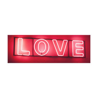 Neon 'LOVE' Sign Stretched Canvas Prints
