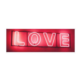Neon 'LOVE' Sign Canvas Print
