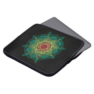 Neon Mandala Design Laptop Sleeve