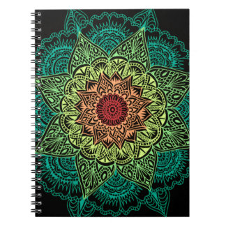 Neon Mandala Design Notebooks