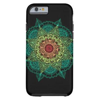 Neon Mandala Design Tough iPhone 6 Case