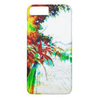 Neon maple leaves in the rain iPhone 8 plus/7 plus case
