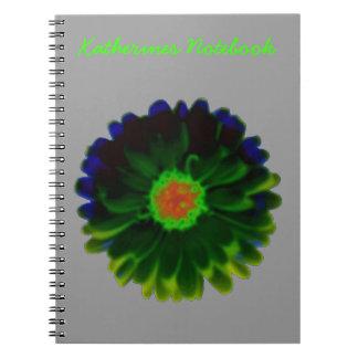 Neon Marigold Customizable Notebook