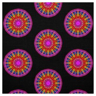 Neon Medallion Fabric