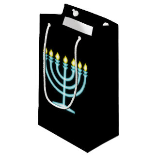 Neon Menorah Small Gift Bag