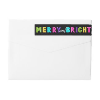 Neon Merry and Bright Wrap Around Label