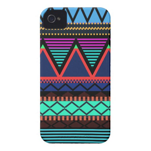 Neon Modern Tribal Blackberry Bold Case