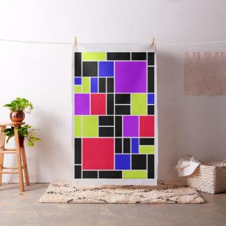 Neon Mondrian Fabric