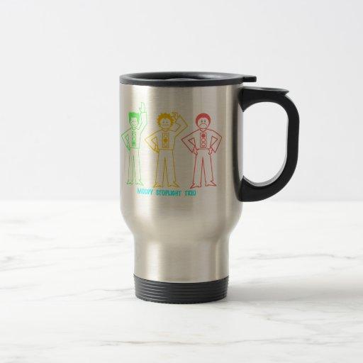 Neon Moody Stoplight Trio Characters w/ Label Coffee Mug