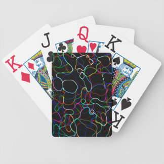 Neon Multicolor Lines Poker Deck