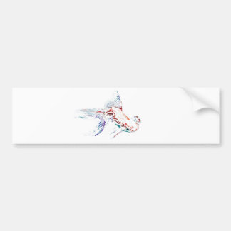 Neon Multicolor Rainbow Fish/Goldfish/Koi Bumper Sticker