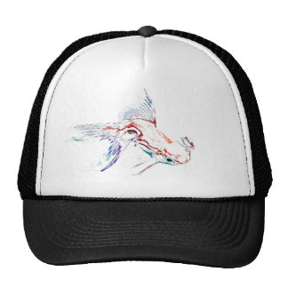 Neon Multicolor Rainbow Fish/Goldfish/Koi Cap