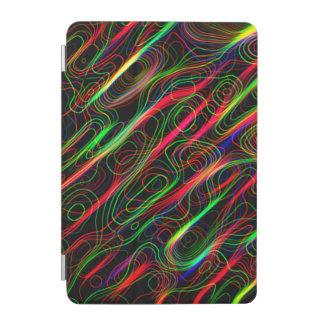 Neon Multicolored Lines iPad Mini Cover