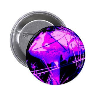 Neon Mushroom 6 Cm Round Badge