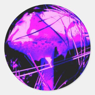 Neon Mushroom Classic Round Sticker