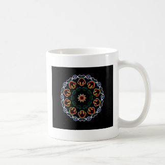 Neon Mushroom Enlightenment Coffee Mug