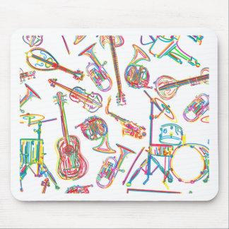 Neon Music Pattern Mousepads