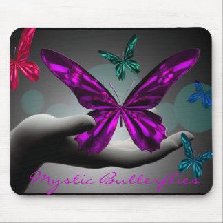 Neon Mystic Butterflies Mouse Pad