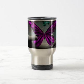 Neon Mystic Butterflies Stainless Steel Travel Mug