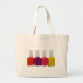 Neon Nail Polish Large Tote Bag