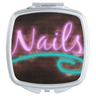 Neon Nails Sign Mirrors For Makeup