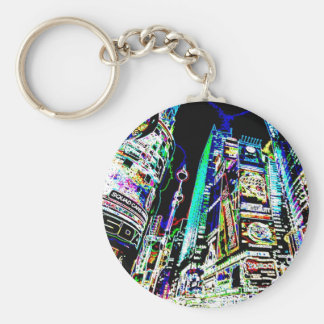 Neon New York City Key Ring